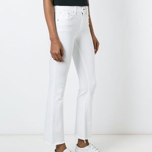 Rag & bone cropped flare raw hem jeans